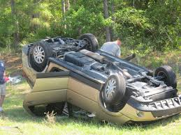 car upturned 2